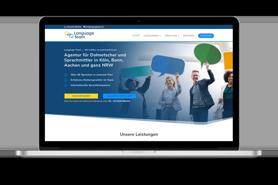 Webseite und Logo für eine Dolmetscher Agentur